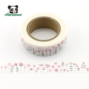 Private label japanese custom printed dandelion pattern washi tape