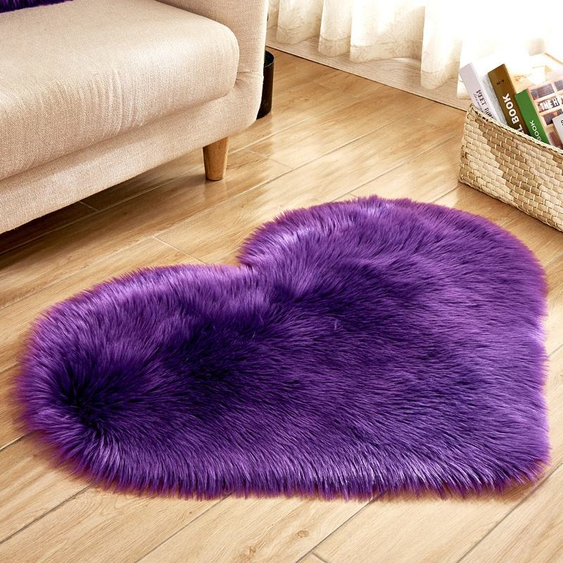 modern plush blanket heart shaped area rugs faux fur pink rug