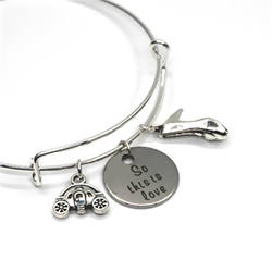 The Cinderella quote So this is love Bracelets slipper and p