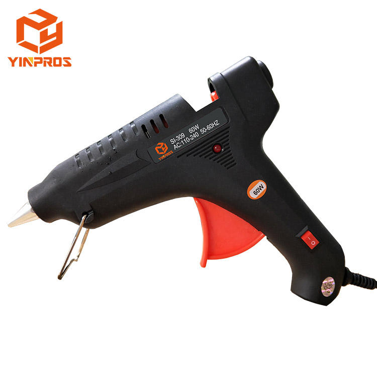Manufacturer Industrial Black Color Electrical Tools Hot Melt Glue Gun with Switch 60W