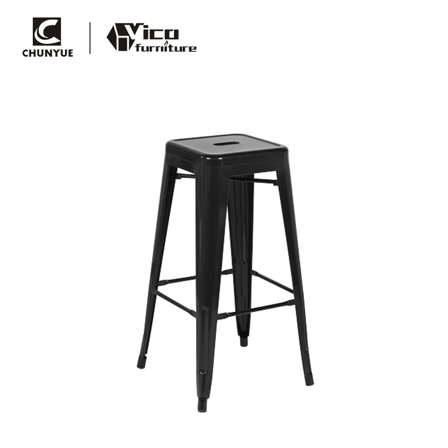 Wholesale stackable outdoor retro replica bar pub cast iron steel stool
