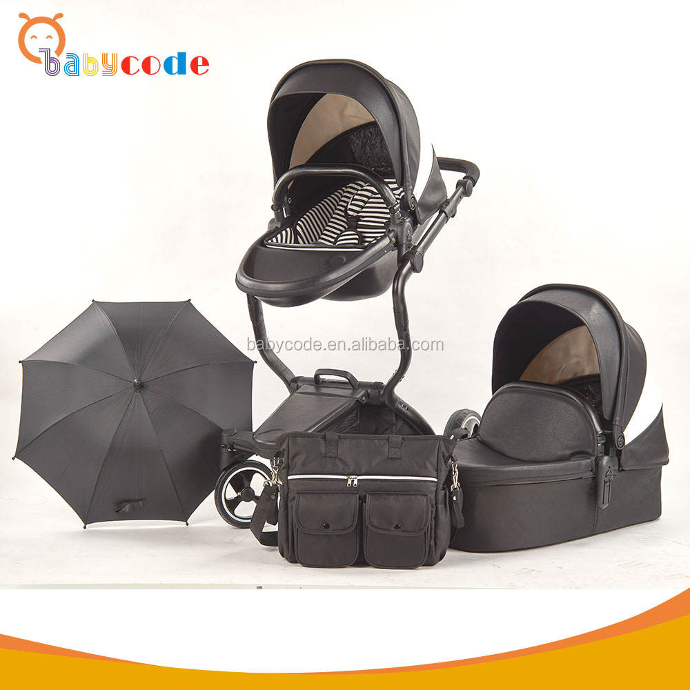 Good baby stroller produced by Experience China factory with convenient saving basket to carry things easily
