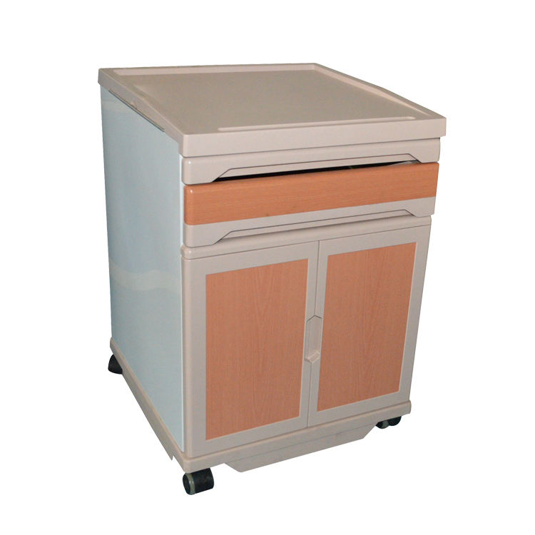 China Factory Hospital Bedside Cabinet Hospital Bed Table With Drawer