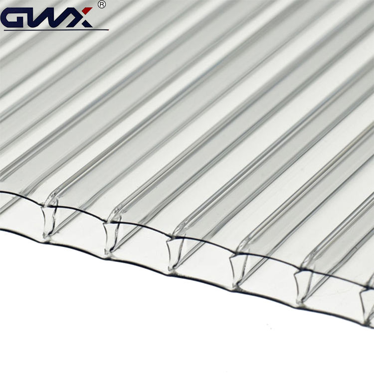 GE polycarbonate double wall hollow plastic sunroom green house roofing pc hollow sun sheets