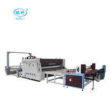 corrugated paper board making machinery manufacturer , corrugated paperboard 2 colors printer&slotter&rotary die cutter