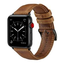 New Arrive Amazon Hot Brown Color Ultra Thin Retro Leather Band for Apple Watch watch strap 5/4/3/2/1 38 40 42 44 mm