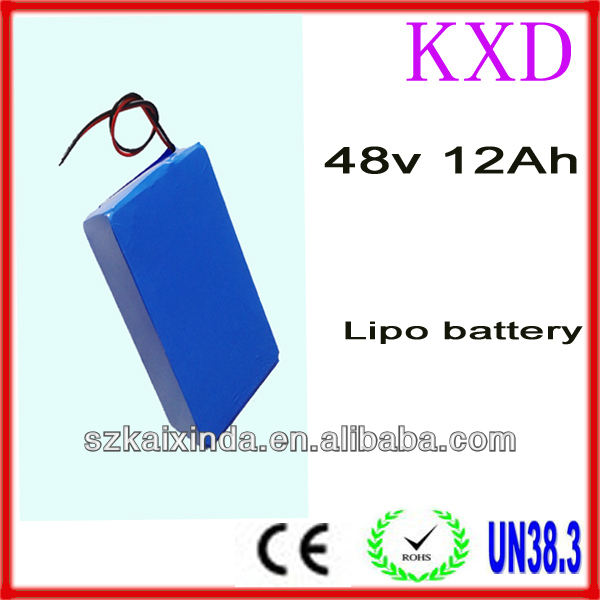 Rechargeable lithium polymer 13S3P 12ah golf cart battery 48v