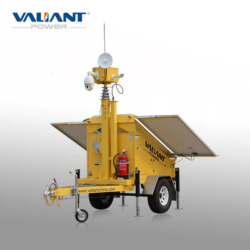 wireless camera security system solar cctv trailer