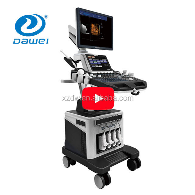 Dual Layar Mesin Ultrasound & Trolley USG Color Doppler Mesin & Real Time 4D Ultrasound DW-T6