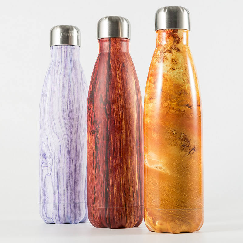 Insulated Reusable Water Bottle | Stainless Steel Vacuum Insulated Wide Mouth Thermos Flask | Keeps Water Stay Cold for 24