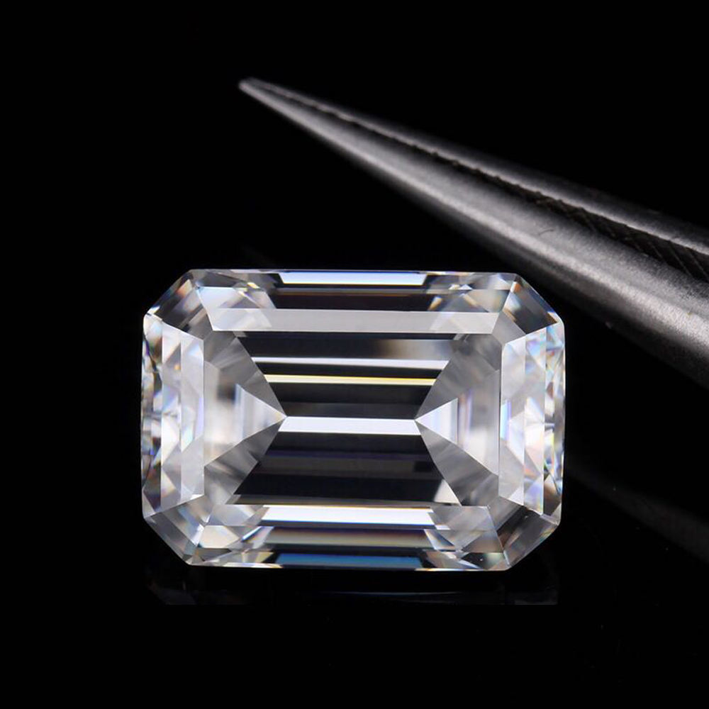 5x7mm 1 carat EF kleur hot koop emerald cut losse moissanite precio in voorraad