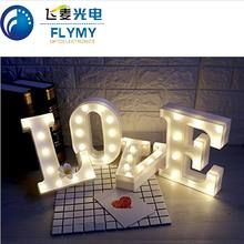 Free Combination Desktop 26 Letters A B C Led Marquee Light Sign Diy Gift Home Indoor Decoration