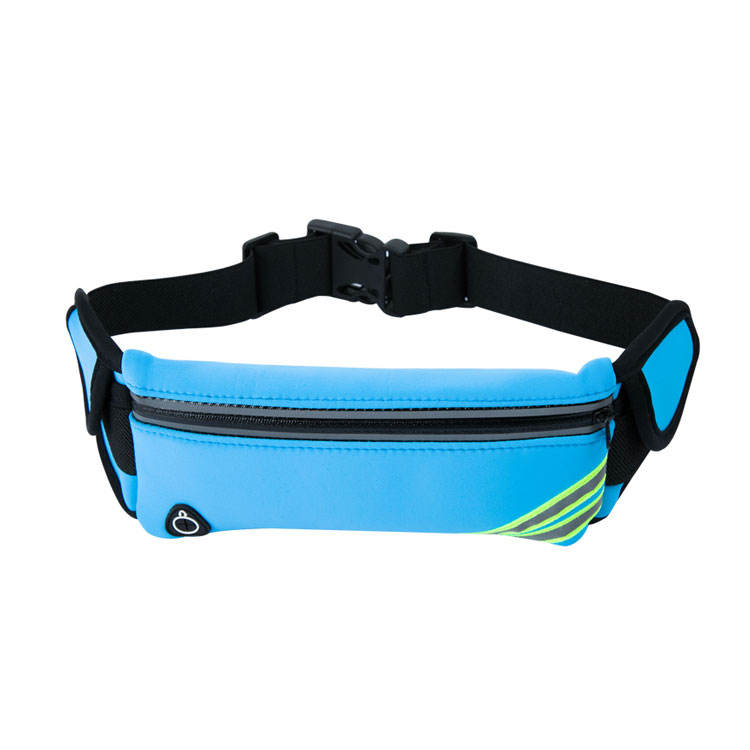 Amazon hot selling product sport neoprene funny bag waist belt with smooth lycra fabric