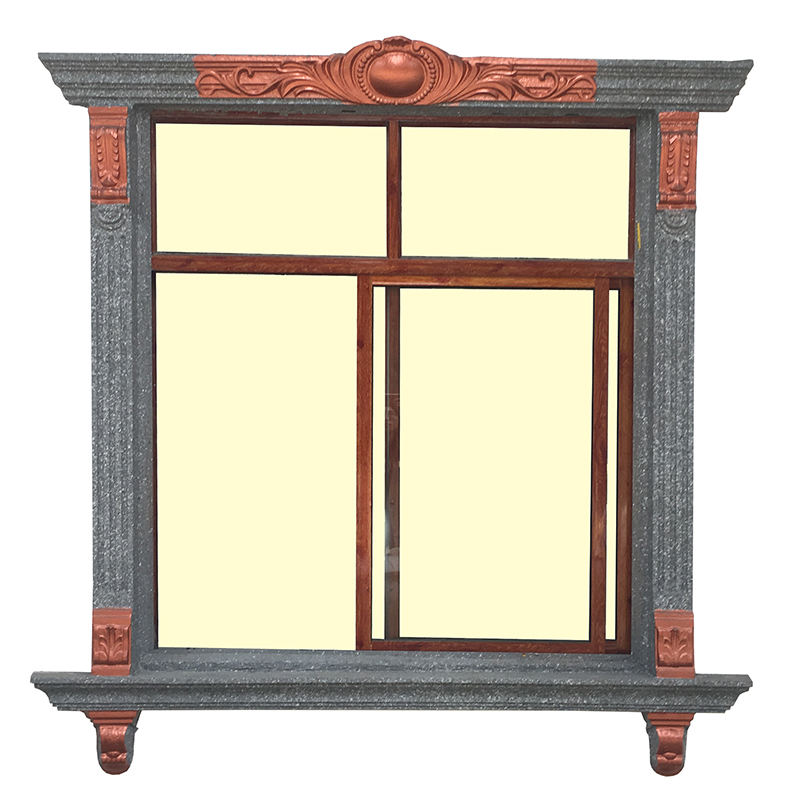 Architecture European style window frames concrete moulding
