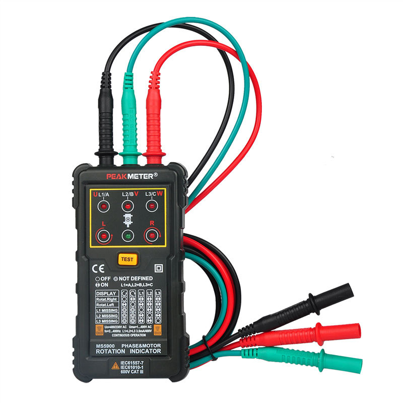Non-contact Motor Rotation Indication Three Phase Rotation Tester PM5900