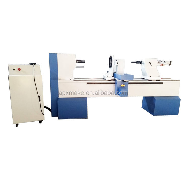 CNC wood lathe machine 1500mm*300mm for making armrest stairs, chess