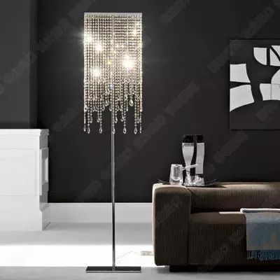 2018 fashion and luxury K9 crystal floor lamp