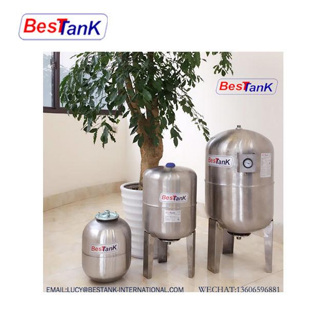 BESTANK 2-100Llt Vertical Stainless Steel Pressure Tank Expansion Tank Pressure Vessel Tank