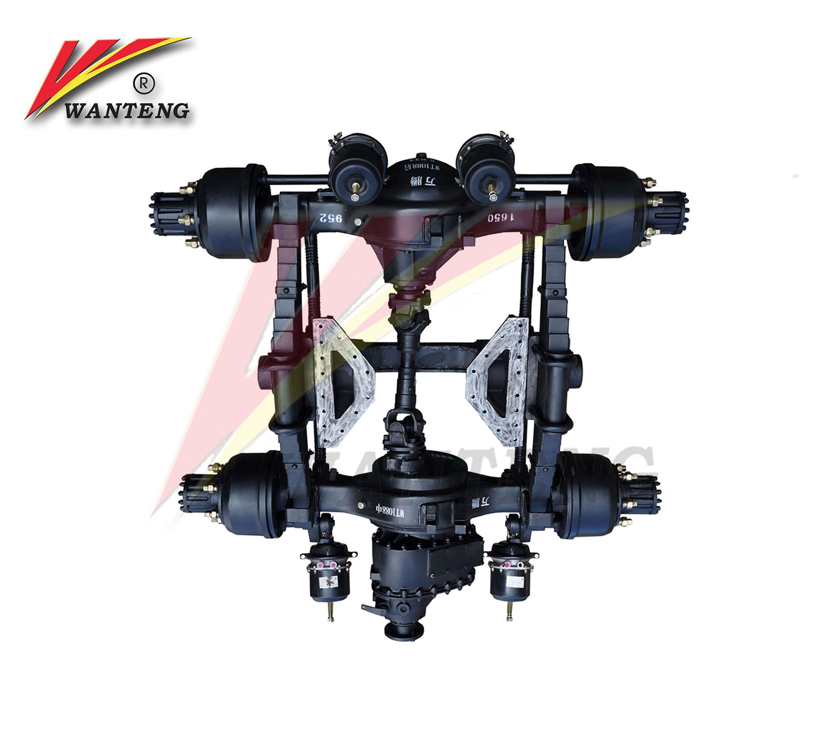 China manufacturer good price truck rear axle with dc gearbox differential
