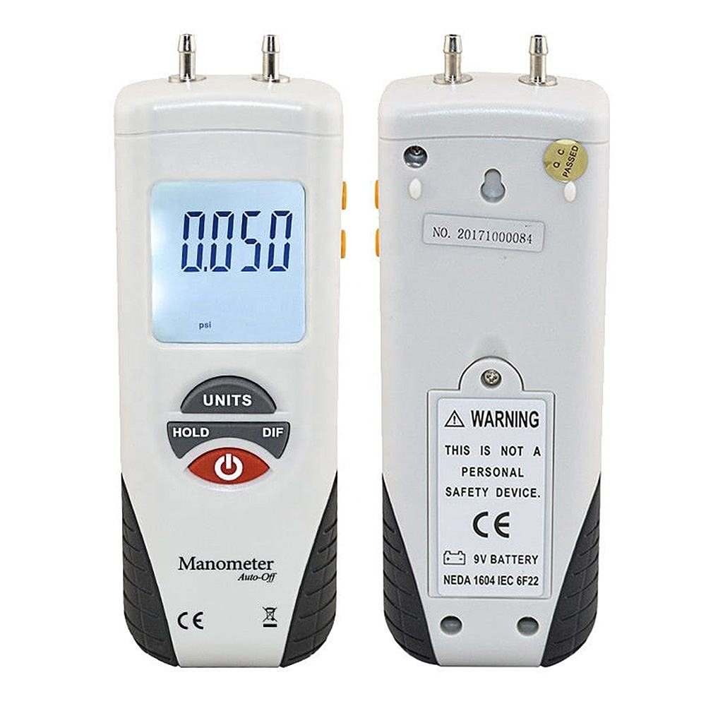 HT-1890 Maximum Pressure10psi Manometer gauge/Digital Manometer Air Pressure Meter Gauge