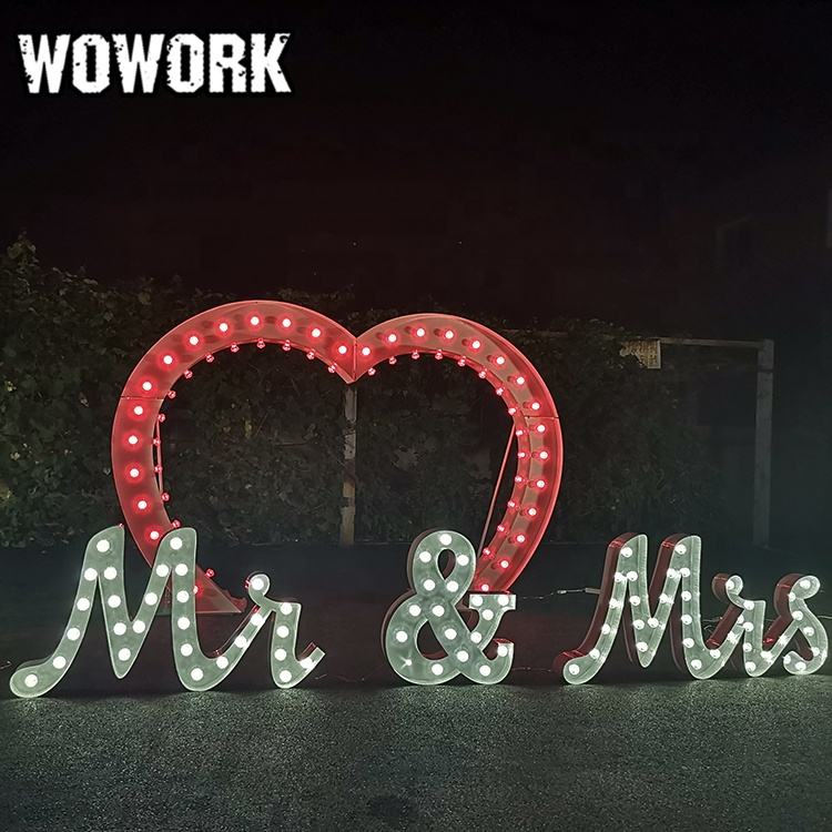 WOWORK Personalized giant heart arch stand festive & party supplies lighted wedding arches