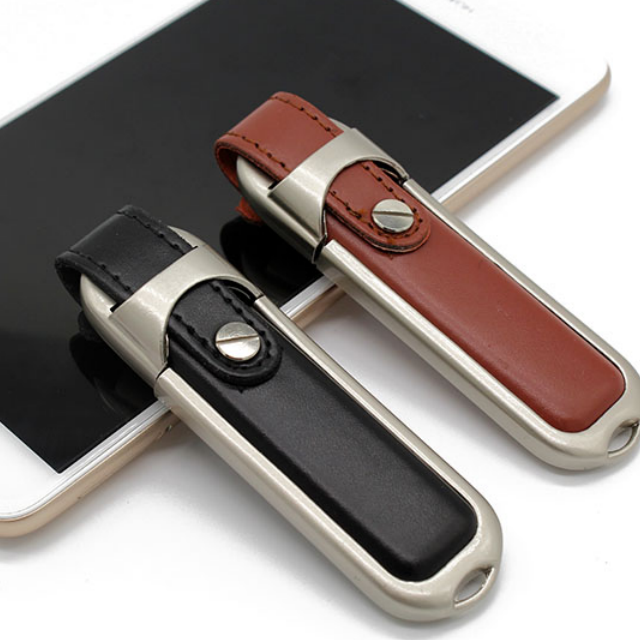 2019 New Style Black/Brown Leather USB 2.0 Pendrive 32GB Cheap USB Flash Drives Wholesale