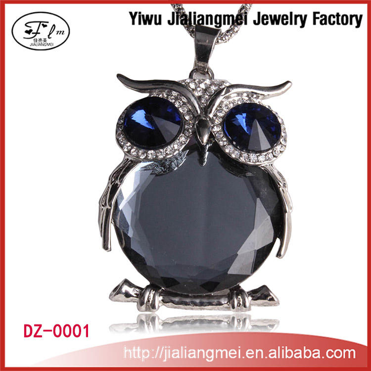 2015 Fashion Jewelry Necklace,Crystal owl design Necklaces Jewelry