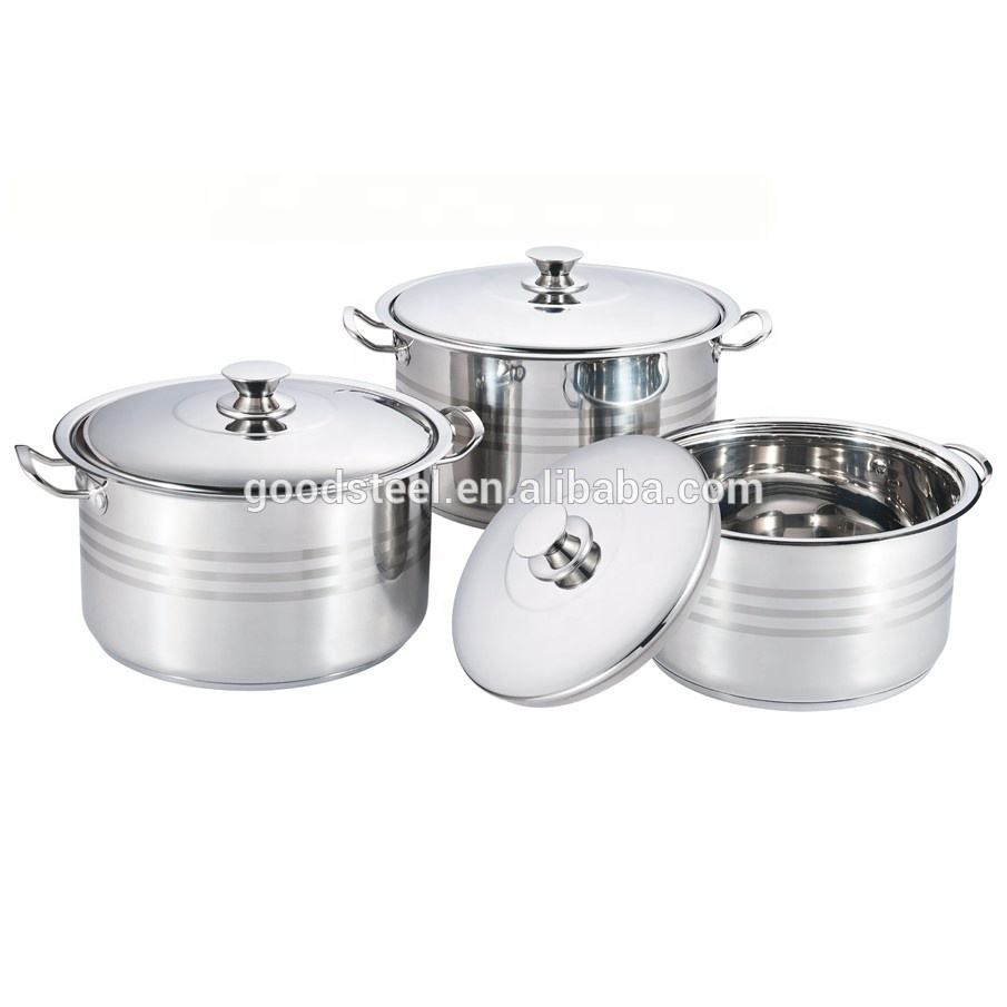 6pcs high quality stainless steel cookware set/Soup pot MSF-3661