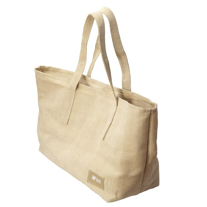 FREE DELIVERY Large capacity natural soft jute cotton tote shopping gift bag