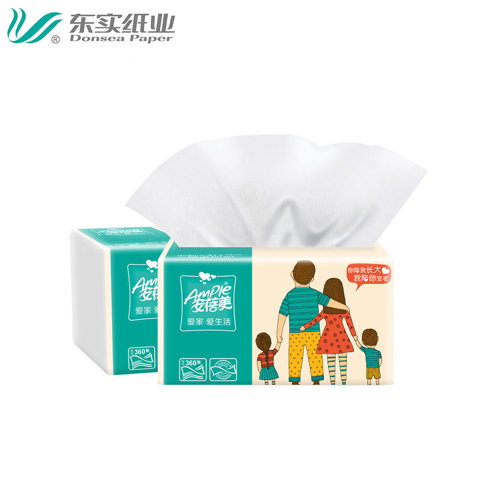Oem Interleave Pop-Up Soft Pack Tissue Papier 100% Pure Pulp Papieren Handdoek Tissues