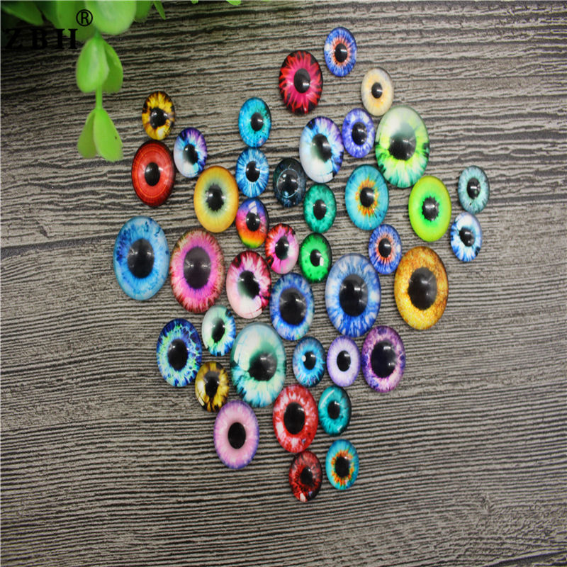 10mm/16mm/20mm Multi-color Glass Eyes Stuffed Animal Toys Safety Dragon Eyes