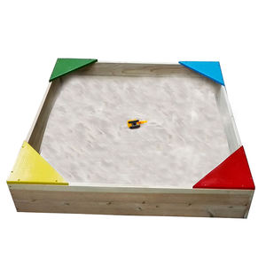 Easy assemble wooden sand box with corner cover