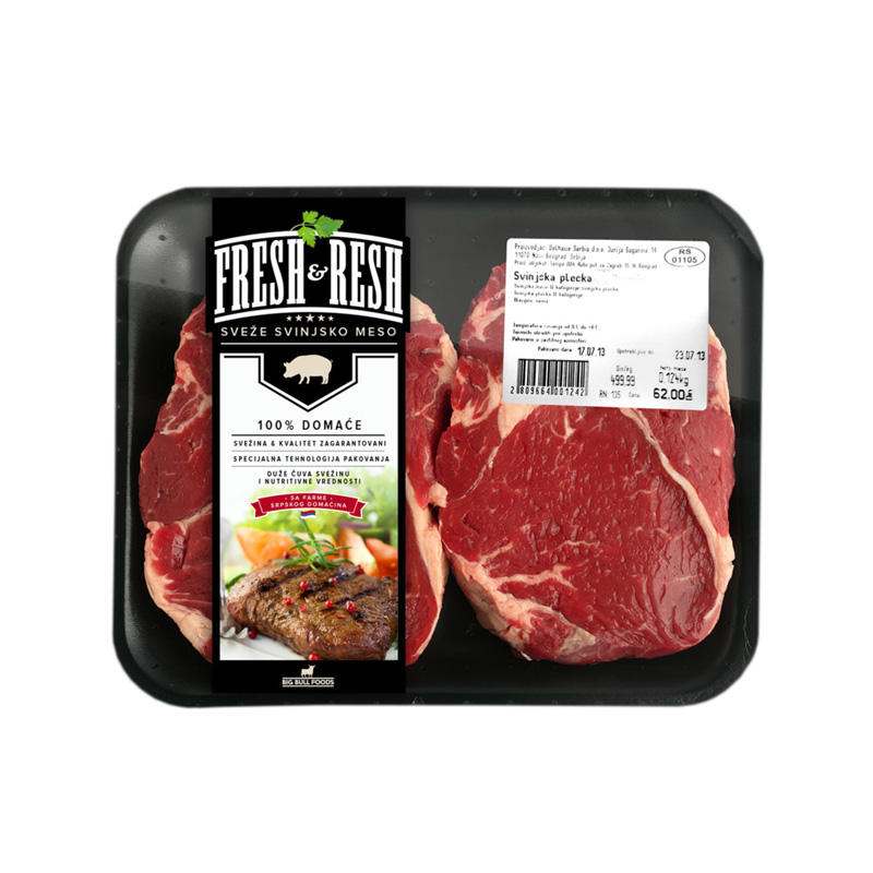 High quality print frozen meat packaging labels