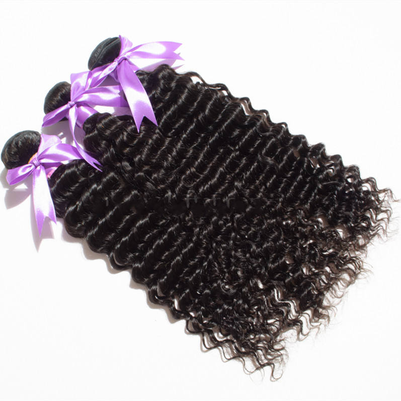 Malaysian Human Hair 10A Grade Natural Color Deep Wave Hair Bundles