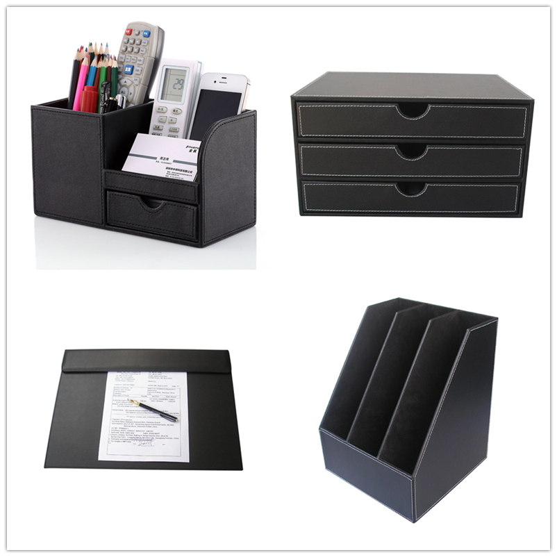 Office School Leather Supplies Desk Accessories Stationery Set