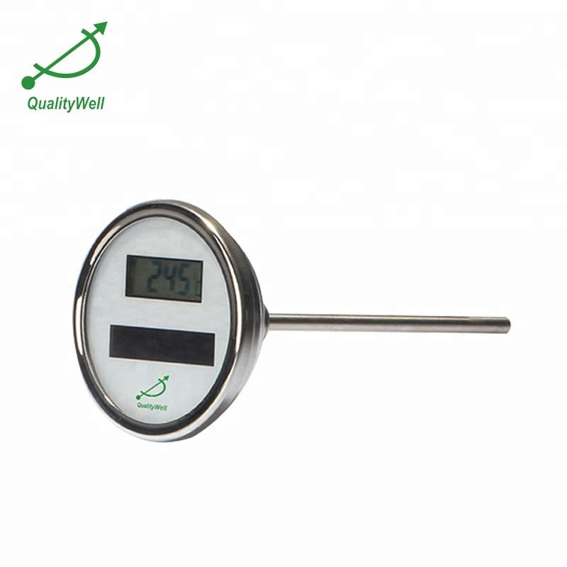 Solar digital thermometer for Food industry,machine building and general plant construction.