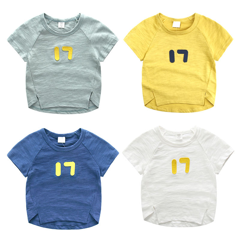 Babys Casual Basic Soft 100% Organic Cotton Cotton Round Neck High Quality T-shirt