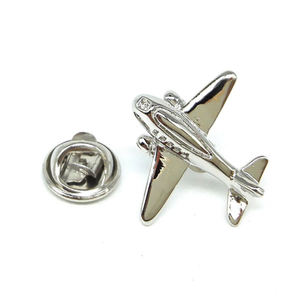 3d design flugzeug geformt metall emaille revers pin