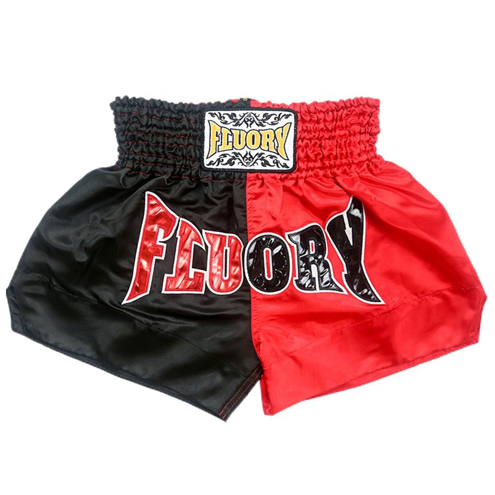 Logo Customization [ Black ] Thai Box Shorts Custom UFC Athlete Competition MMA Box Red Black Muay Thai Shorts