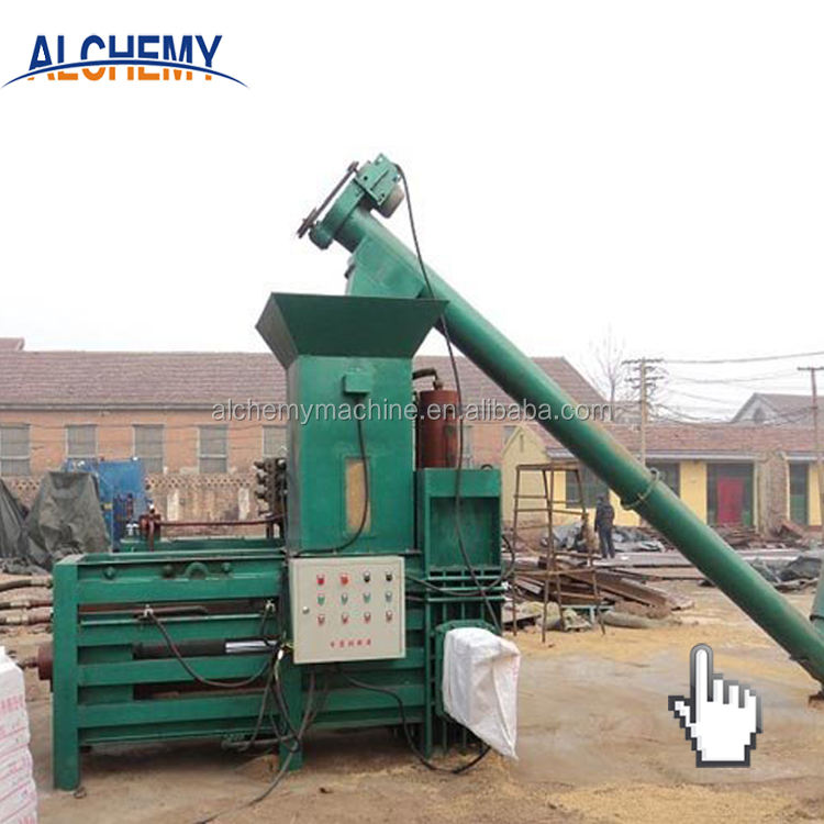 factory direct horizontal automatic sawdust baler machine