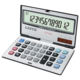 Foldable Metal Cover 112 Steps Check and Correct Calculator Rubber Keys Kids Student Use Mini Calculator