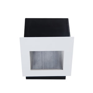 1W 2W 3W Indoor Hotel Commercial Project Square Aluminum Brushed Embedded Box Baffle Recessed LED Step Stair Wall Light