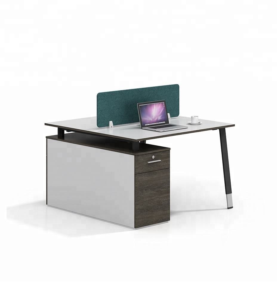 2 Seats Modern Workstations Office Table Desk wooden office table design