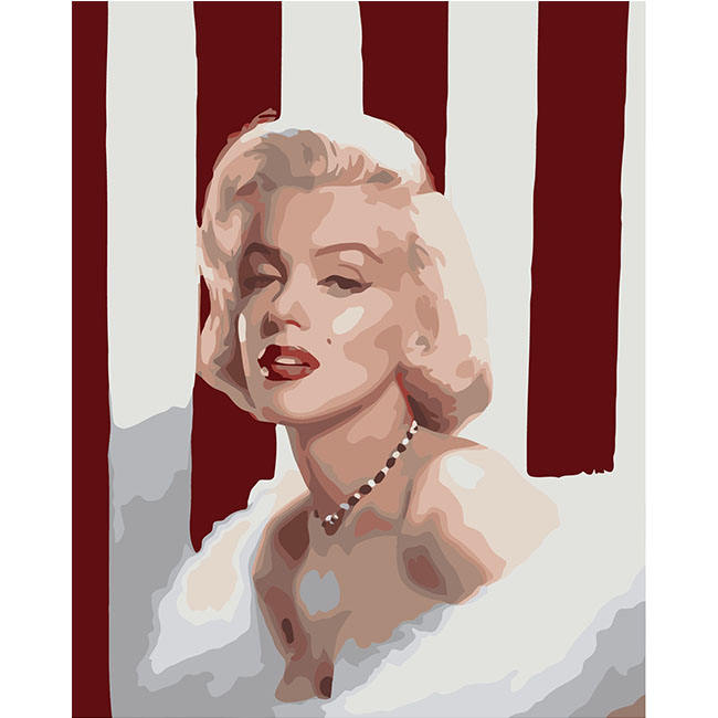Professional Custom Pop Art Acrylic Marilyn Monroe Diy Oil Painting By Numbers For Home Decor Wall Art