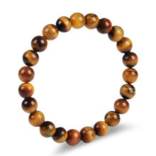 New Jewelry 19cm Tiger Eye Agate Natural Stone Bracelet for Women Men Gift Bracelet
