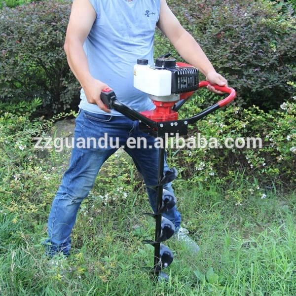 New 52cc gasoline earth auger drilling machine / hand digging machine