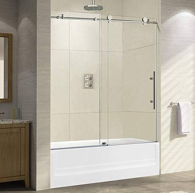 Walk In Bathtub Screen Frameless Sliding Tub Shower Door For Bath