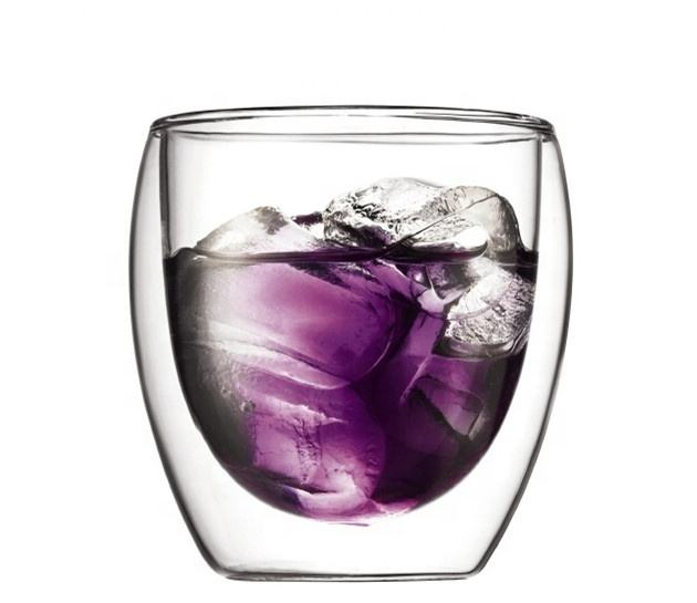Vaso de Whisky de doble pared, transparente, 8oz-10oz