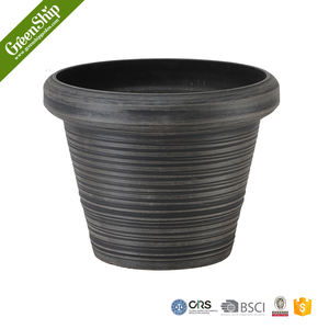 Round Plastic Plant Flower Pot Home Office Decor Planter manufacture for sale