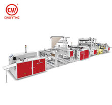 fully automatic interleaved rolling bag making machine poly draw bags on roll making machine overlap roll garbage bag machine